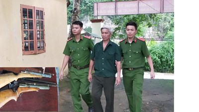 Thanh Hoá: Triệt phá 'lò sản xuất' súng, đạn giữa vùng quê