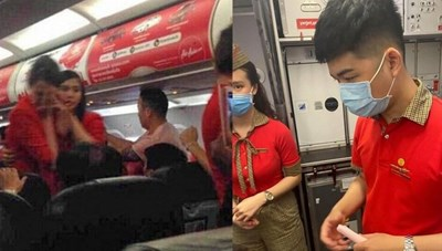 Cấm bay 1 năm nữ hành khách ném điện thoại vào tiếp viên trưởng