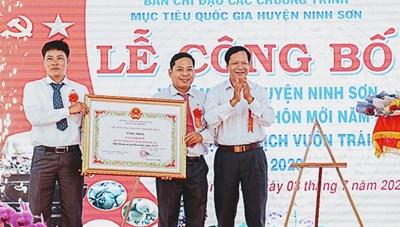 Ninh Thuận: Công nhận xã Lâm Sơn đạt chuẩn nông thôn mới