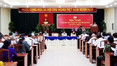 Mặt trận Bình Định tổ chức Hội nghị Ủy ban MTTQ Việt Nam tỉnh lần thứ 4