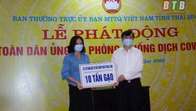 Thái Bình: Chuyển 17 tấn gạo hỗ trợ hộ nghèo bị ảnh hưởng dịch Covid-19