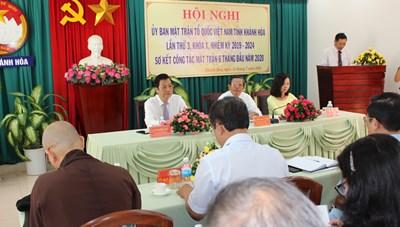 MTTQ tỉnh Khánh Hòa sơ kết công tác 6 tháng đầu năm