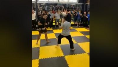[VIDEO] Võ sư Nam Anh Kiệt để thua võ sĩ nghiệp dư