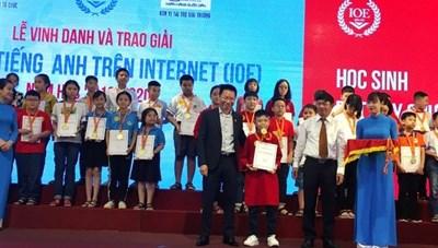 Vinh danh 50 học sinh xuất sắc nhất cuộc thi Olympic Tiếng Anh trên Internet
