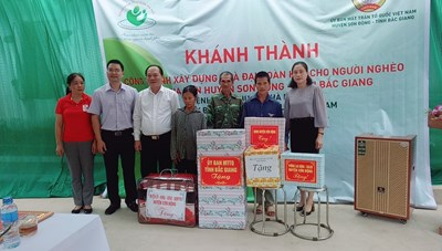 Bắc Giang: Khánh thành nhà Đại đoàn kết cho người nghèo