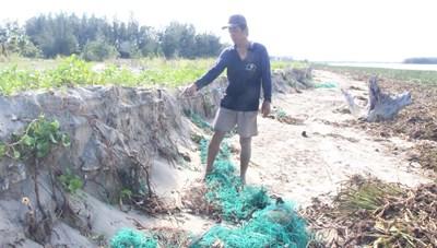 Quảng Nam: Bờ biển xã Duy Hải bị sạt lở nghiêm trọng