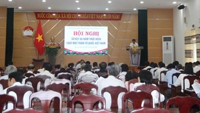 Quảng Nam: Sơ kết 5 năm Thực hiện Luật Mặt trận Tổ quốc Việt Nam