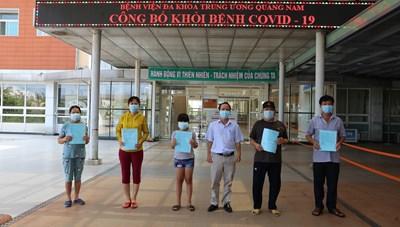 2 bệnh nhân (BN) Covid-19 cuối cùng tại Quảng Nam đã được xuất viện