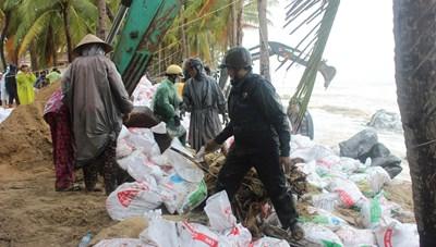 Quảng Nam: Dựng đê mềm chống triều cường 'ăn' bờ biển Cửa Đại