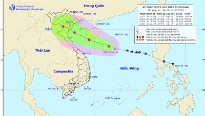 Áp thấp nhiệt đới có khả năng mạnh lên thành bão trên Biển Đông