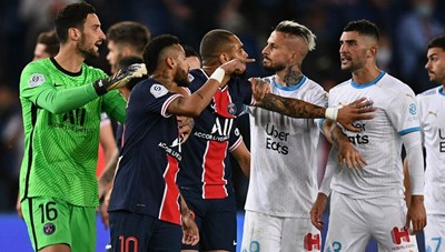 Neymar lĩnh thẻ đỏ trong trận thua của PSG