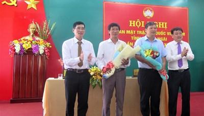 Mặt trận Quảng Ngãi có 2 tân Phó Chủ tịch