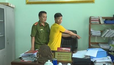 Vừa 'ra tù' lại leo tường vào UBND xã trộm cắp tài sản