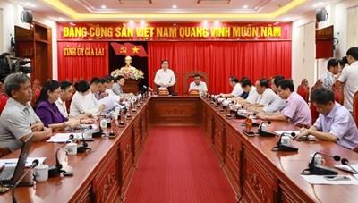 BẢN TIN MẶT TRẬN: Chủ tịch Trần Thanh Mẫn làm việc với Ban Thường vụ Tỉnh ủy Gia Lai