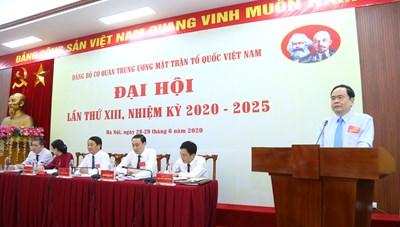 BẢN TIN MẶT TRẬN: Đại hội Đảng bộ cơ quan Trung ương MTTQ Việt Nam