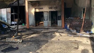 Cháy kho vải của một hộ dân, thiệt hại 100 triệu đồng