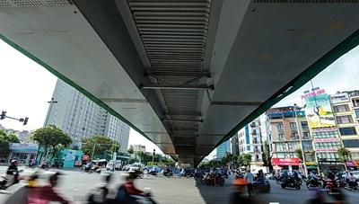 [ẢNH] Cây cầu vượt lớn nhất Thủ đô sắp về đích