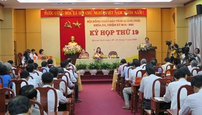 Khai mạc kỳ họp HĐND tỉnh Quảng Ngãi khóa XII