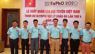4 học sinh giành Huy chương Olympic vật lý châu Âu