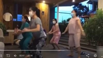 Bác sĩ Bệnh viện Đà Nẵng hít đất, tập thể dục trong khu cách ly