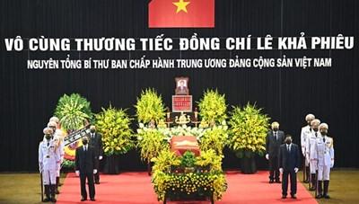 Lời cảm ơn của Ban Lễ tang Nhà nước và gia đình đồng chí Lê Khả Phiêu