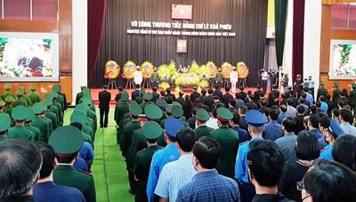 Lễ truy điệu nguyên Tổng Bí thư Lê Khả Phiêu tại Thanh Hóa