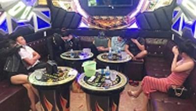 Phát hiện 8 thanh niên sử dụng ma túy trong quán karaoke