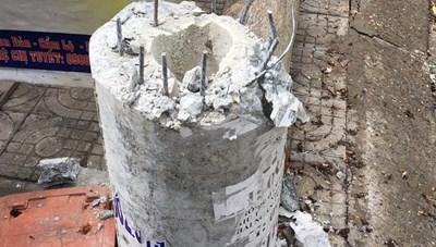 Điện lực Đà Nẵng phản hồi vụ cột điện 'không lõi thép' bị gãy do bão số 5