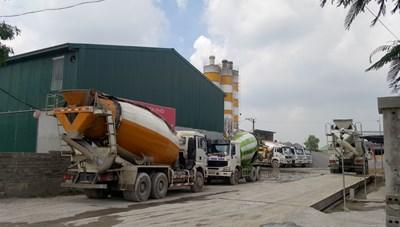 Ninh Bình:Trạm trộn bê tông hành dân