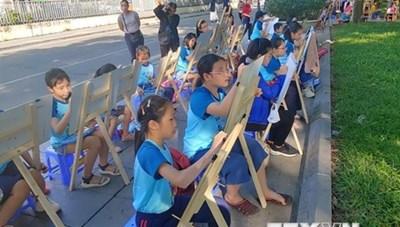 Cuộc thi vẽ tranh 'Em yêu Hà Nội - Thành phố vì hòa bình'