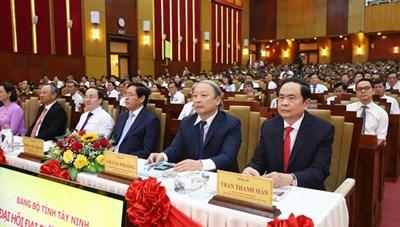 BẢN TIN MẶT TRẬN: Chủ tịch Trần Thanh Mẫn dự Đại hội Đảng bộ tỉnh Tây Ninh lần thứ XI