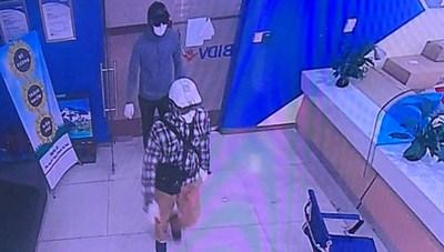 Hình ảnh 2 tên cướp 900 triệu tại ngân hàng BIDV
