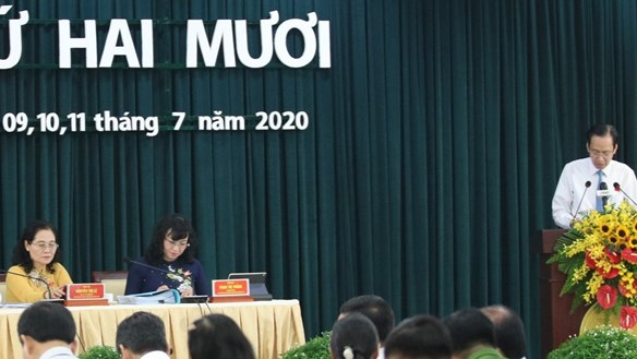 Ông Tất Thành Cang dự họp HĐND TP HCM