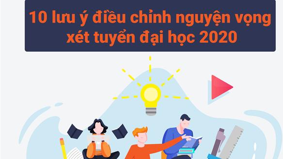 10 lưu ý điều chỉnh nguyện vọng xét tuyển đại học 2020