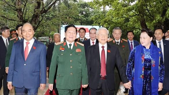 Hình ảnh khai mạc Đại hội đại biểu Đảng bộ Quân đội lần thứ XI