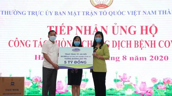 Hà Nội: Tiếp nhận 5 tỷ đồng ủng hộ phòng chống dịch Covid - 19