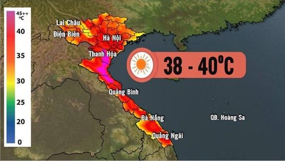 Nắng nóng kéo dài ở Bắc Bộ và Bắc Trung Bộ