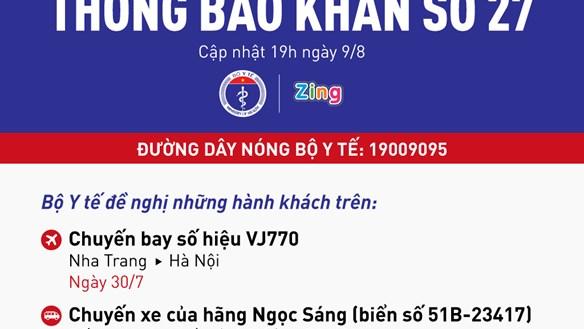 [KHẨN] Tìm người đi chuyến bay VJ770 và xe khách Ngọc Sáng