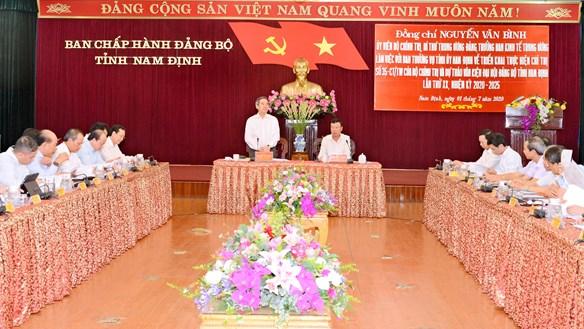 Nam Định: 39/53 Tỉnh ủy viên có thể tái cử