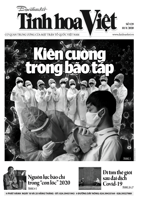 Trang bìa Tinh hoa Việt số 129.