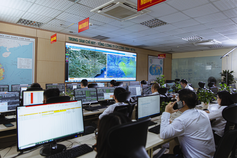 Một góc Trung tâm Chỉ huy của TCT Công trình Viettel