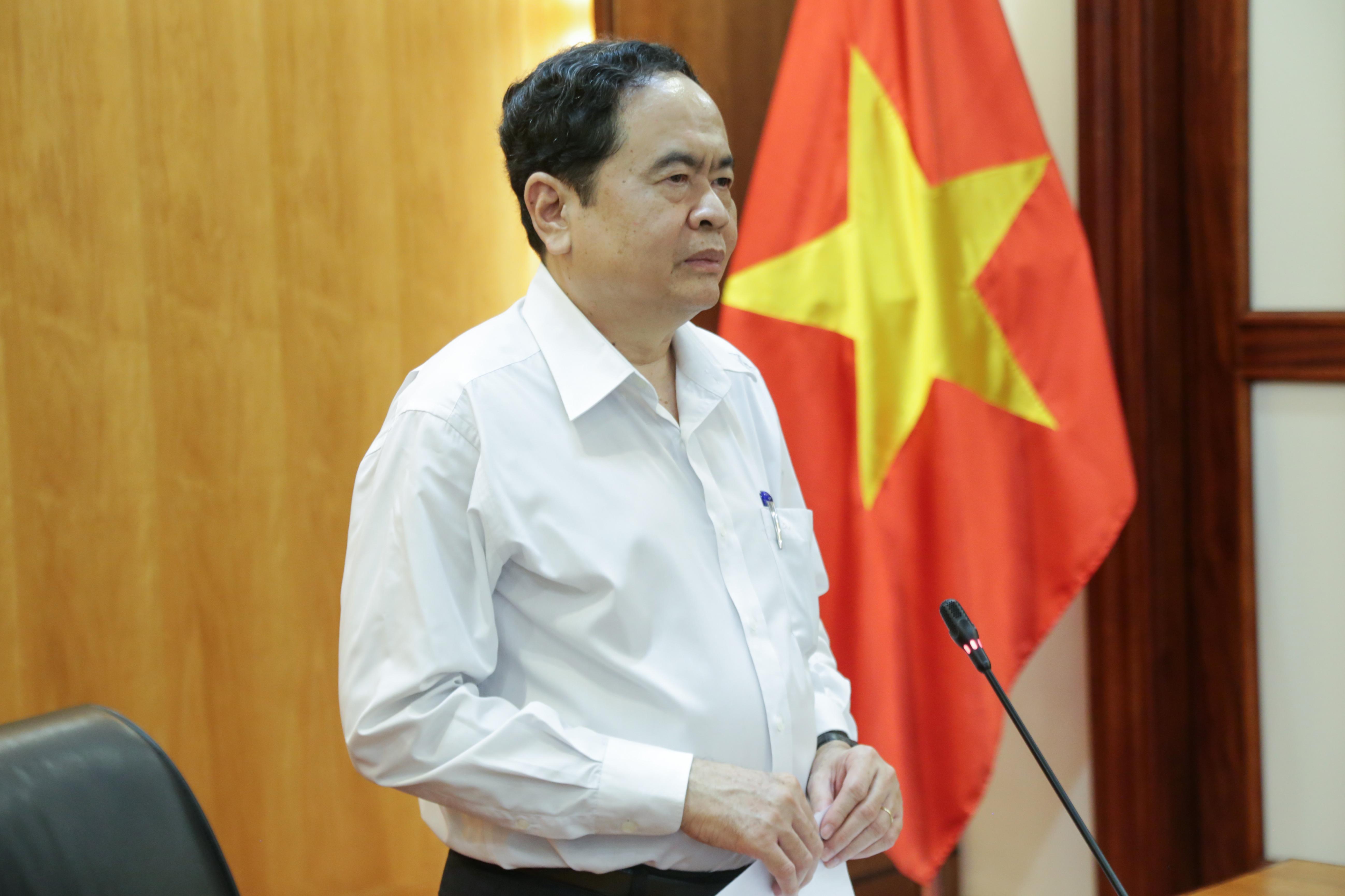 Bí thư Trung ương Đảng, Chủ tịch UBTƯ MTTQ Việt Nam Trần Thanh Mẫn.