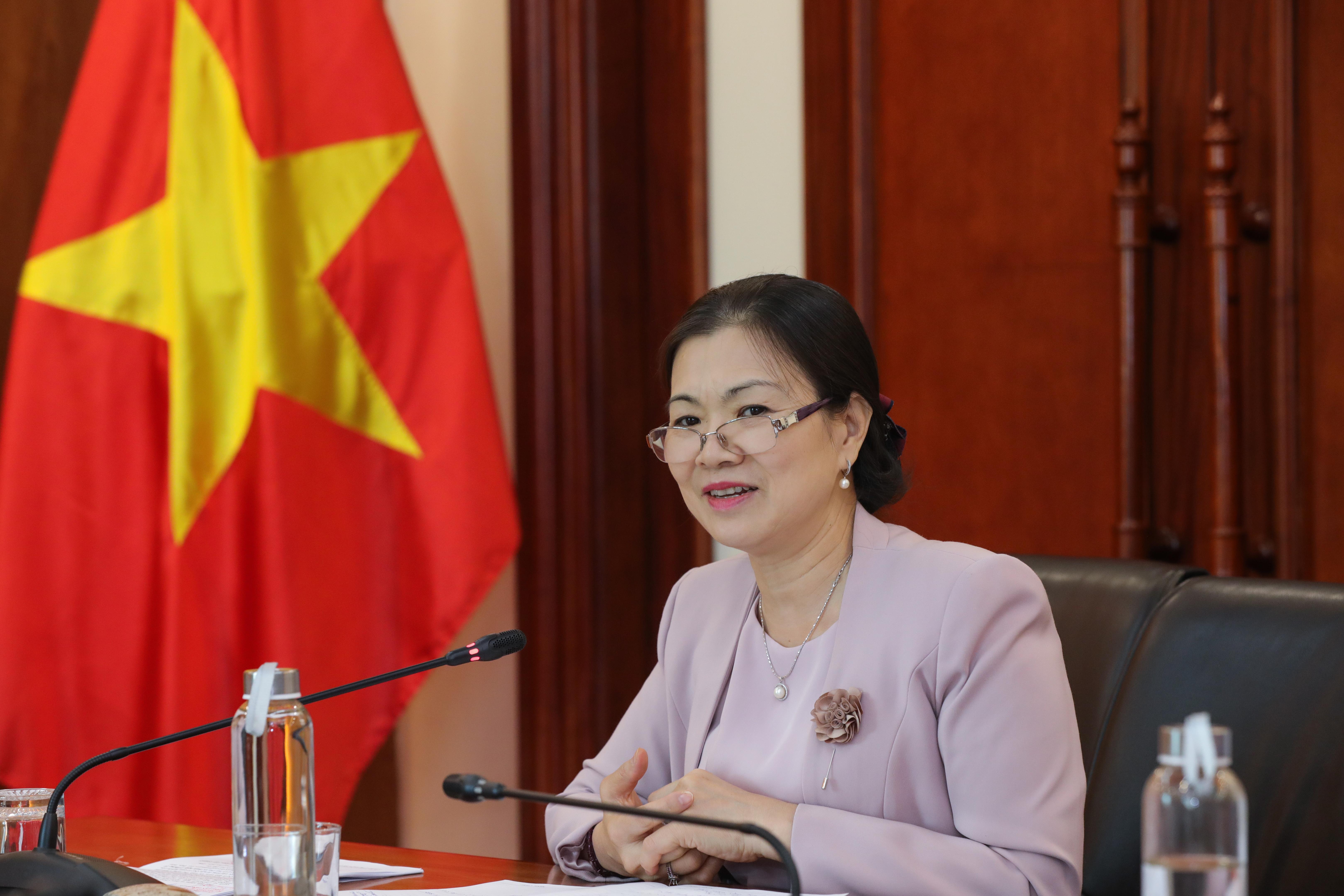 Phó Chủ tịch UBTƯ MTTQ Việt Nam Trương Thị Ngọc Ánh. Ảnh: Quang Vinh.