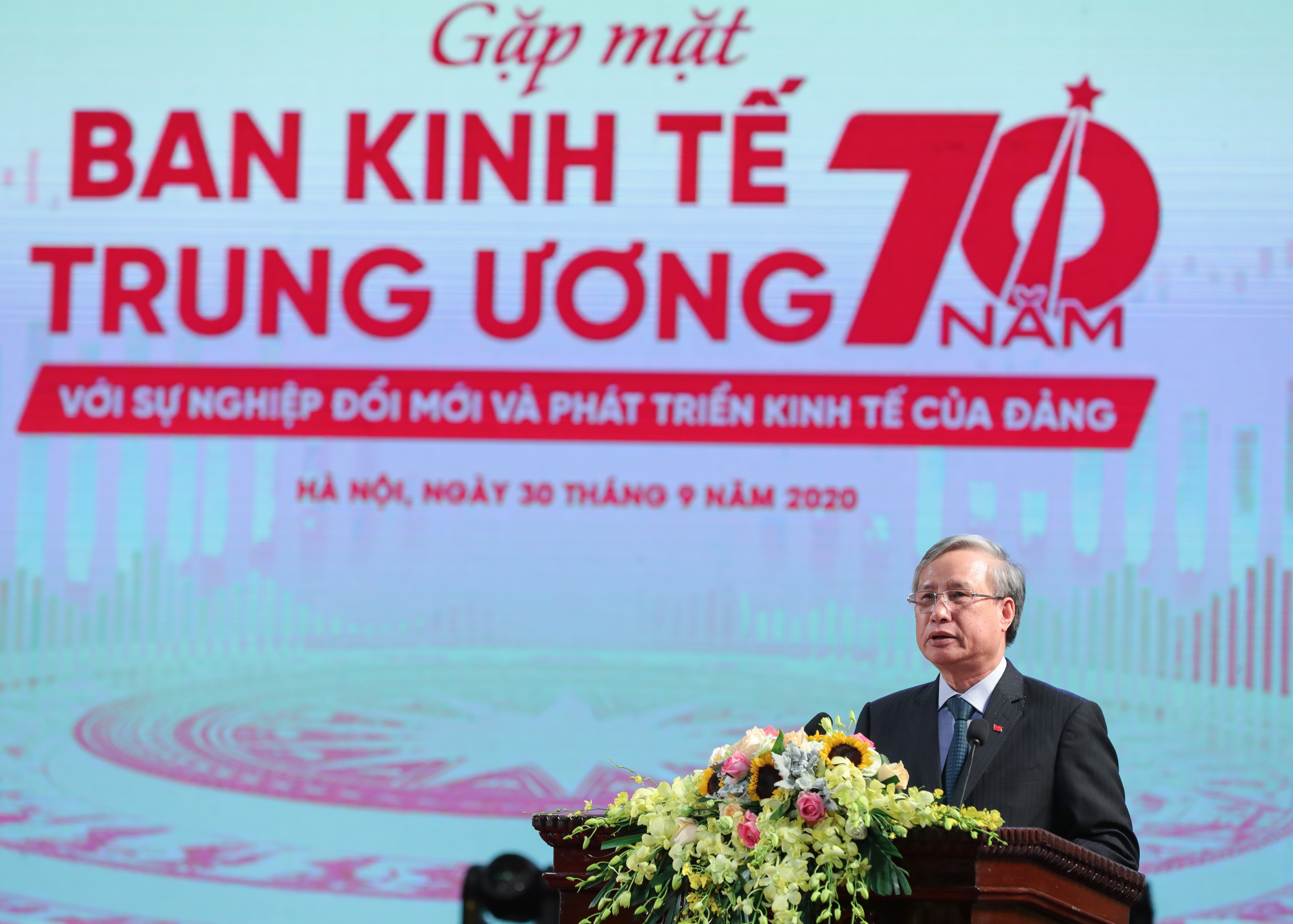 Thường trực Ban Bí thư Trần Quốc Vượng phát biểu tại lễ kỷ niệm