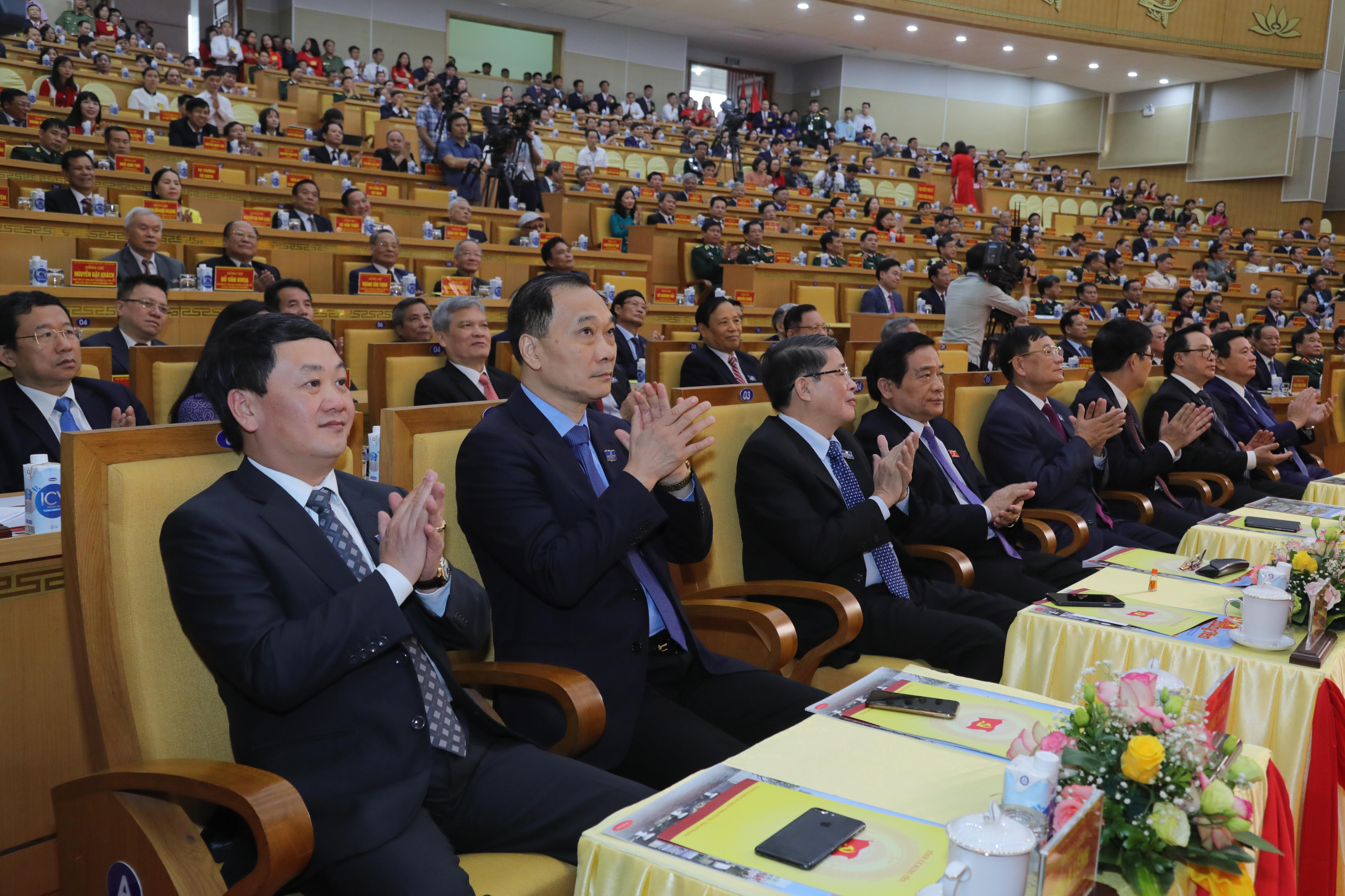 Các đại biểu khách mời dự Đại hội-Ảnh: Quang Vinh