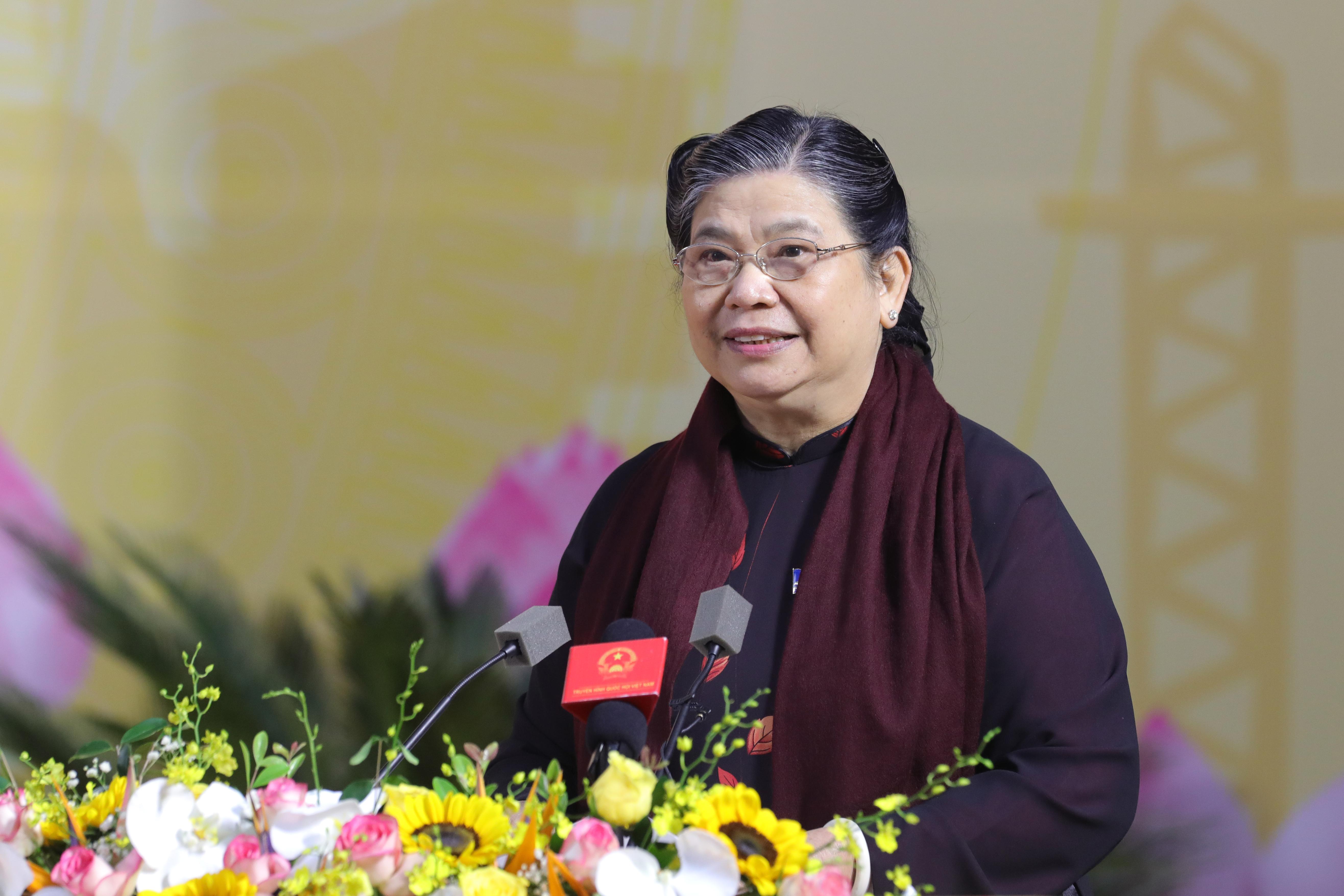 Phó Chủ tịch thường trực Quốc hội Tòng Thị Phóng phát biểu chỉ đạo tại Đại hội- Ảnh: Quang Vinh