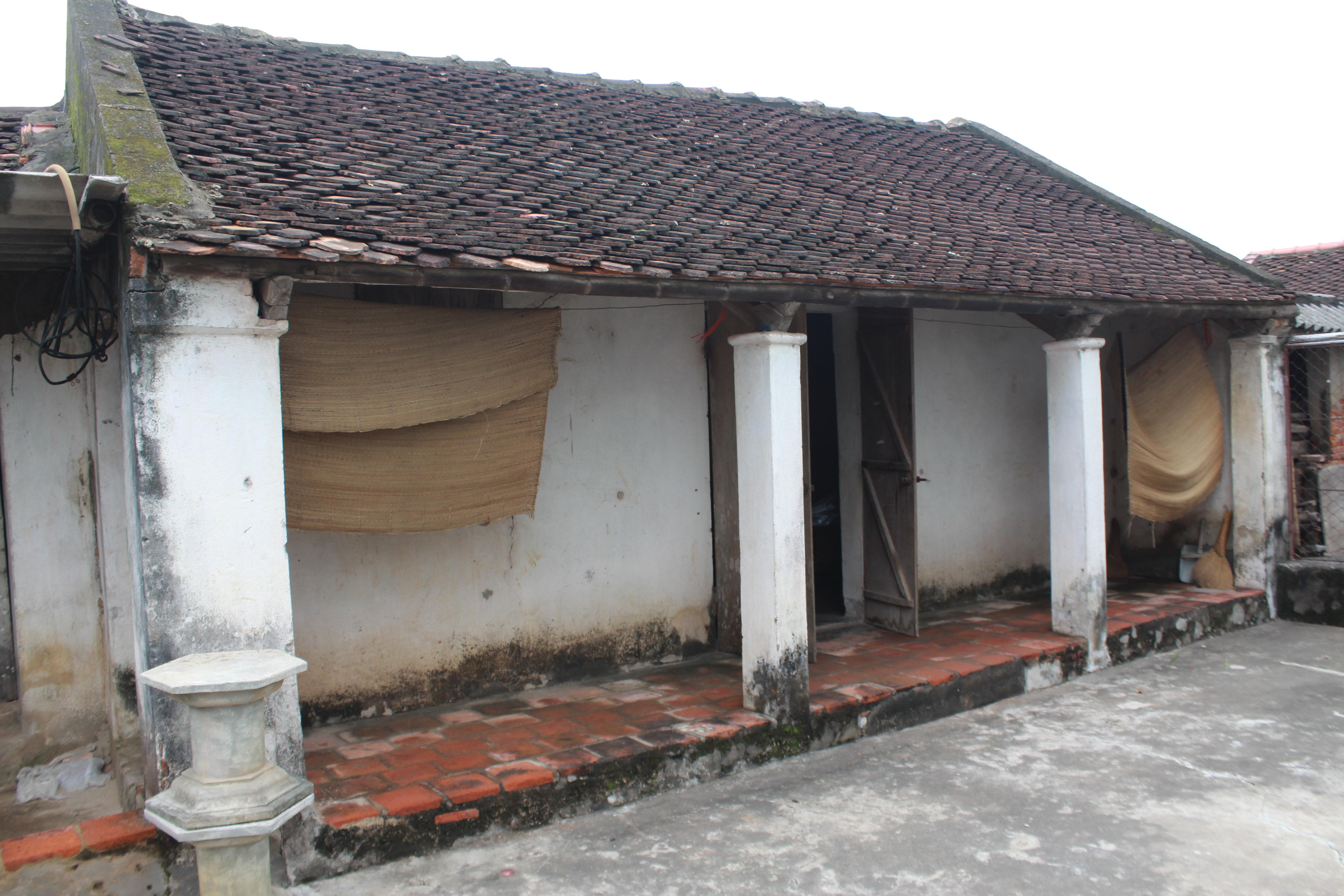 Căn nhà nhỏ mà thượng tá Quế dự định cất lại khi trở về quê hương.
