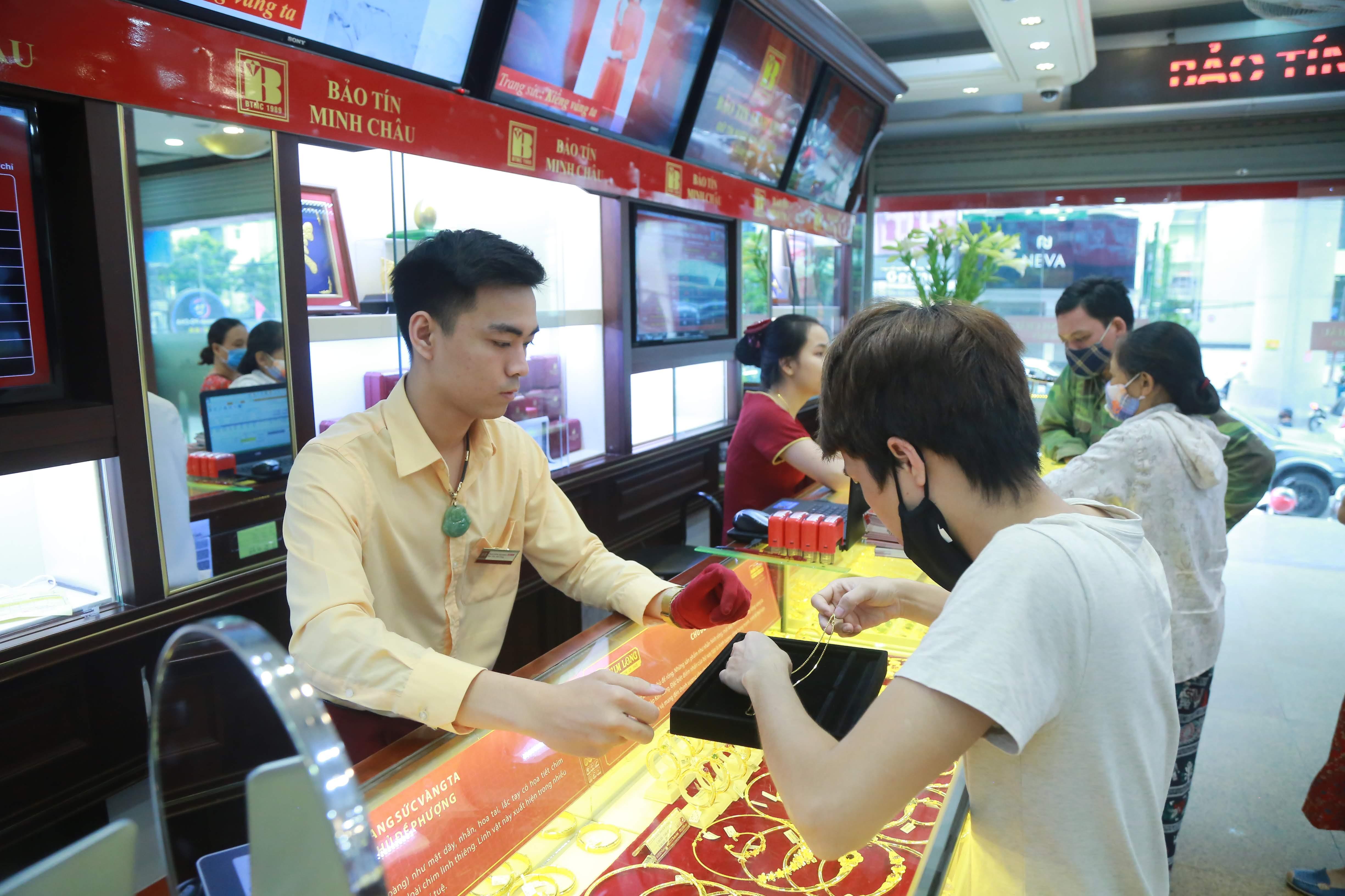 Giá vàng ngày 7/7 đã lập đỉnh mới. Ảnh: Phạm Quang Vinh.