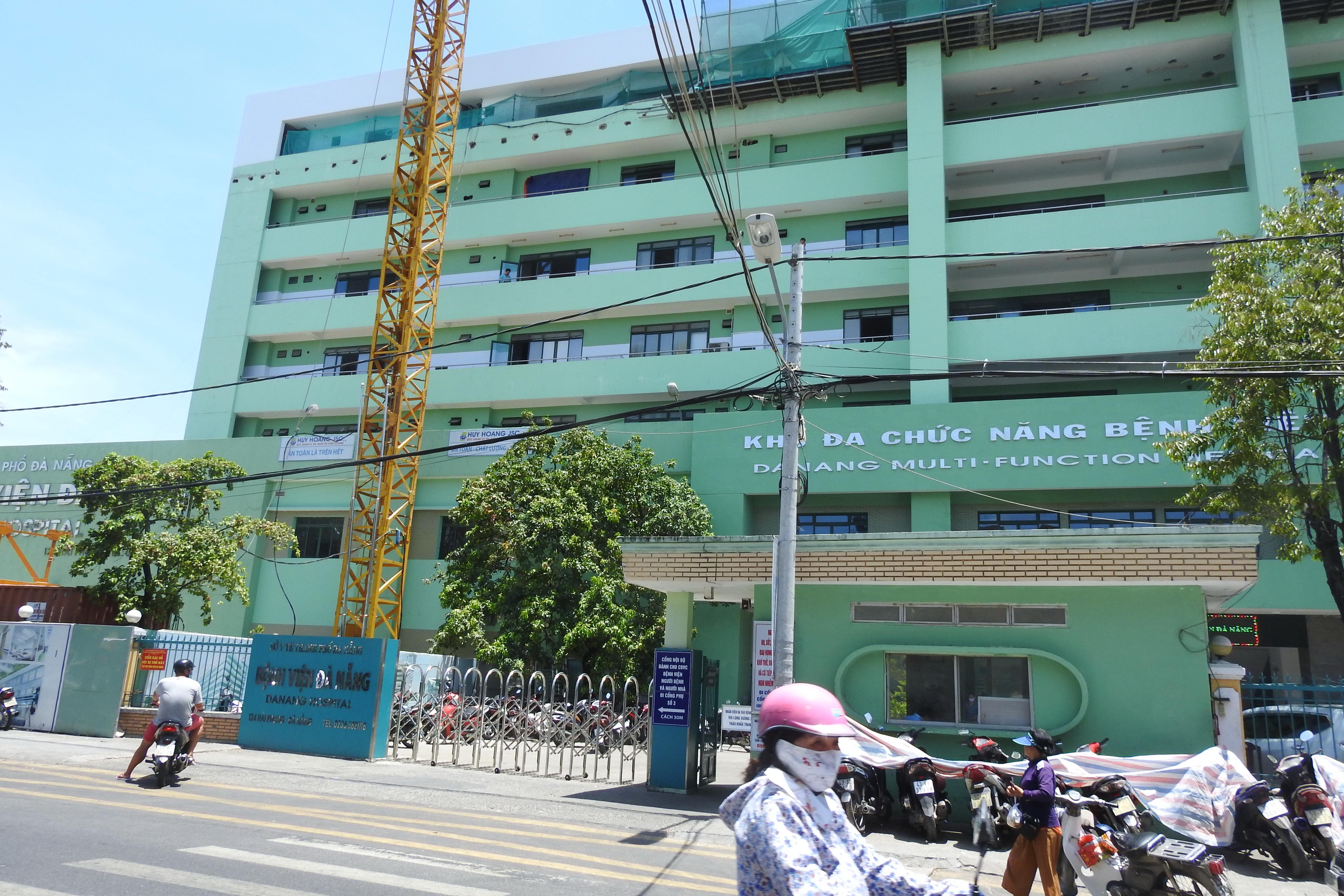 Bệnh viện Đà Nẵng – nơi bệnh nhân dương tính với Covid – 19 số 416 đang điều trị. Ảnh: Thanh Tùng.