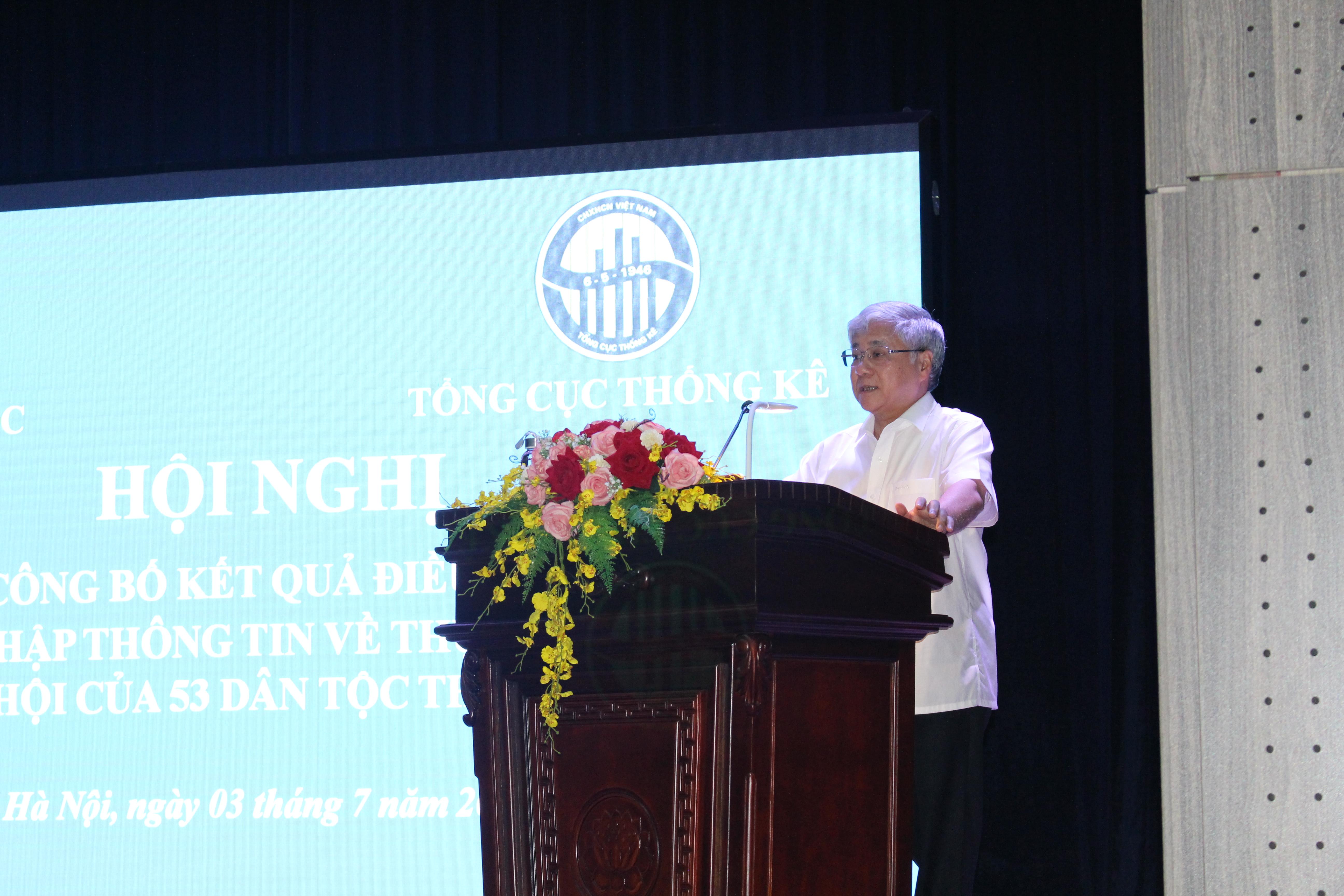 Ông Đỗ Văn Chiến, Bộ trưởng, Chủ nhiệm Ủy ban Dân tộc phát biểu tại hội nghị.